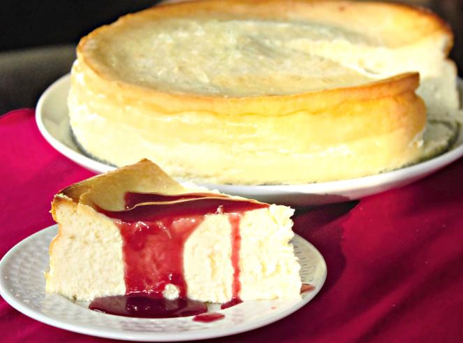 Fluffy Crustless Cheesecake